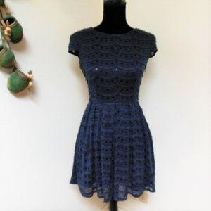 ModCloth Alice Moon Navy Dres